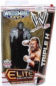 WWE Triple H Elite Wrestlemania 27 BOPPV Figure Michael Cole New
