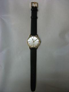 Ancre 17 Anti magnetic Rubis Mens Wrist Watch Black strap (Unused