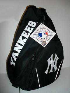 NEW MLB NY YANKEES LOGO BASEBALL BACKPACK BOOKBAG SLING