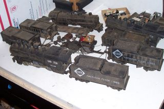 AMERICAN FLYER TRAIN PARTS LOCOMOTIVE & TENDER PARTS ALL FOR PARTS