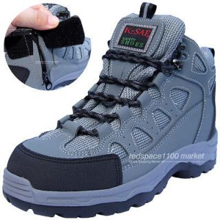 K2ASF Safety Work Boots Steel Toe Cap Zippers & Velcro Made in Korea