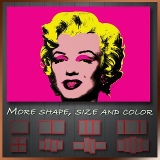 Andy Warhol Pop Art Marilyn Monroe Artist Printing Canvas Box Ready To