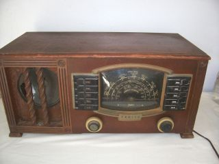VINTAGE 1942 ZENITH 7S634R STANDARD SHORT WAVE TUBE RADIO AUTOMATIC