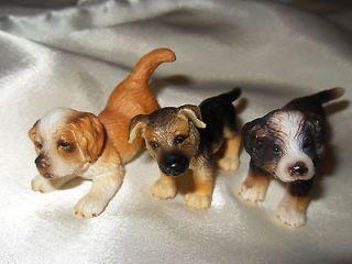 LOT 3 SCHLEICH PUPPY DOG FIGURES / ST. BERNARD, GERMAN SHEPHERD