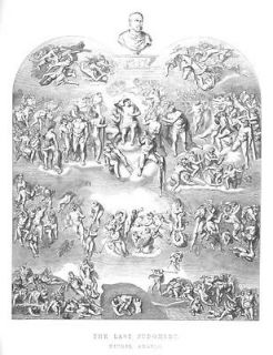 MICHEL ANGELO LAST JUDGEMENT ENGRAVING ANTIQUE PRINT