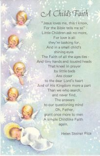 Christmas Card Angels A Childs Faith Helen Steiner Rice Poem Angel