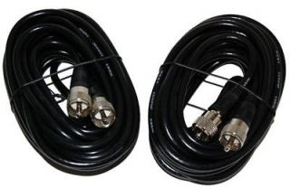 20Ft. RG 8X Mini 8 Coax PL 259 Male to Male Ham Radio Antenna Cable