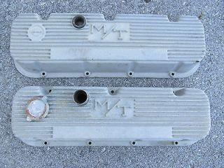 Vintage M/T finned aluminum valve covers Chevrolet 396 427 454 SS