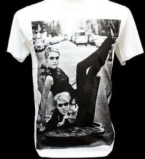 ANDY WARHOL Pop Art Edie Sedgwick Model Rock T Shirt S