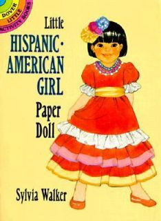Hispanic American Girl Paper Doll by Sylvia Walker 1995, Paperback