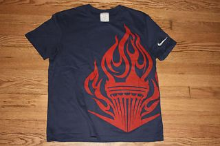 Olympics Olympic Flame Nike Adult T shirt Medium Gold Medal Sports
