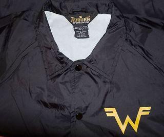 RaRe *1990s WEEZER* vtg black concert tour nylon satin jacket (L