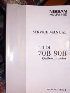 Nissan Marine Outboard Motor Service Manual TLDI 70B   90B Power Boat