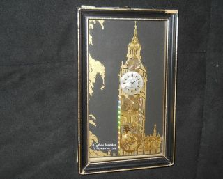 Horological Collage Big Ben London by J. Ammon 1978 Autographed