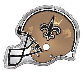New Orleans Saints NFL Team 26 Helmet Shaped Party Mylar Foil Balloon