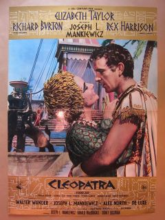 1963 ELIZABETH TAYLOR CLEOPATRA ITALIAN FILM MOVIE POSTER V GOOD CND