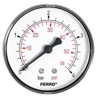 60mm 4BAR 60PSI Pressure Gauge air oil or water 1/4 BSPT Rear Entry