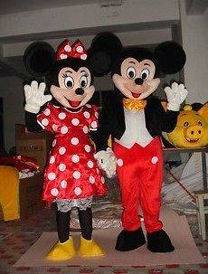 Mickey and Minnie Mouse Mascot Costume Fancy Dress Halloween a Pair