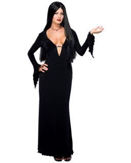Addams Family Gothic Vampire Witch Dress Up Halloween Adult Costume