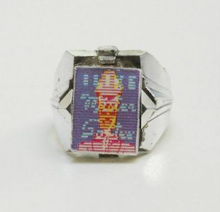 Mister Mr. Softee Ice Cream Flicker Flasher Ring Vintage