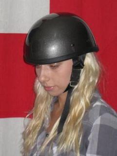 Novelty motorcycle helmet metallic gun metal grey LARGE Daytona Eagle