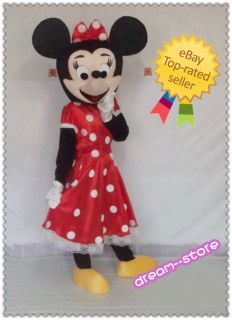 Brand New Minnie Mouse Mascot Costume Foam Head Adult Size ★ Fast