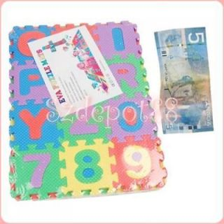 NEW ALPHABET AND NUMBER PUZZLE MAT INTERLOCKING JIGSAW