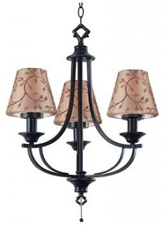 Kenroy Home Belmont Outdoor Chandelier Oil Rubbed Bronze Finish