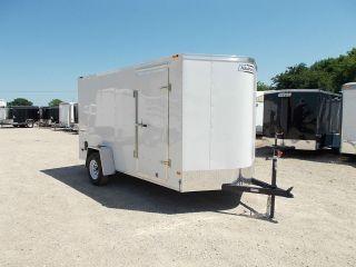 6x12 6 x 12 Enclosed Utility Motorcycle V NOSE Cargo Trailer HAULMARK