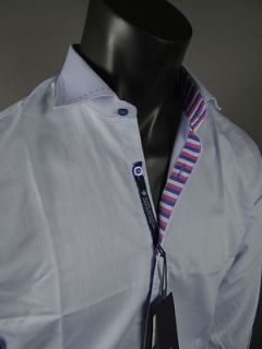 Mens Shirt STONE ROSE Red Rivet Collection MIA 701 Ice Blue Button up