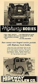 1939 Ad Highway Trailer Truck Bodies Motor Vehicles Utility Edgerton