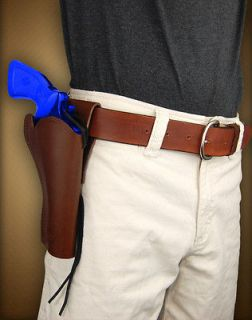 Barsony Brown Leather Forty Niner Style Holster for RUGER BEARCAT 4