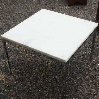 24 Florence Knoll End Table Calacatta Marble Top