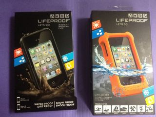 iPhone 4/4S Black Life Proof case + Lifejacket both New In Box