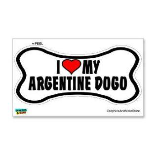 Argentine Dogo Love My Dog Bone   Window Bumper Locker Sticker