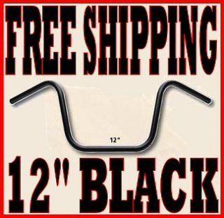 SANTEE BLACK 12 APE HANGER HANGERS HANDLEBARS 1  APES HARLEY CHOPPER