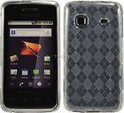 TPU Purple Argyle Silicone Gel Skin Case Cover Samsung Galaxy Prevail