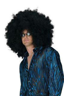 JUMBO Afro Wig Black Hair Large Fro Pick Curly Hippie Hippy Costume