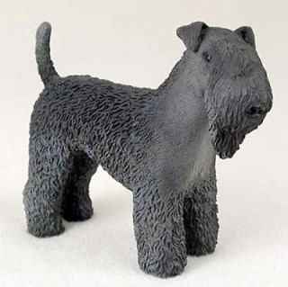 Kerry Blue Terrier Hand Painted Dog Figurine Statue