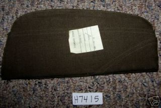 WWII US ARMY MENS WOOL GARRISON CAP SIZE 6 1/2 H7415