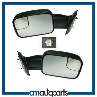 Truck Power Heated Towing Side View Door Mirrors Left/Right Pair Set