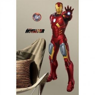THE AVENGERS IRON MAN 48 Giant Wall Stickers Removable Room Decor