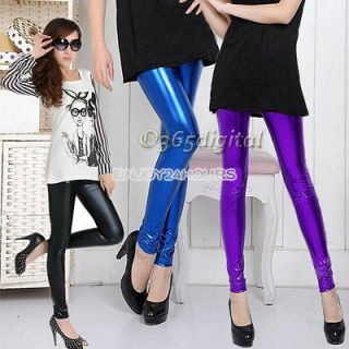 Fashion Womens Girls Metallic Colorful shiny / Sparkle Spandex Tights