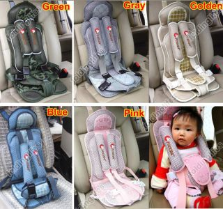 Kids Auto Car Safety Booster Seat Cover Harness Cushion Belt Strap