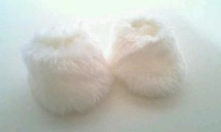 White Fancy Slippers 4 American Girl Dolls Just Like You Me Bitty