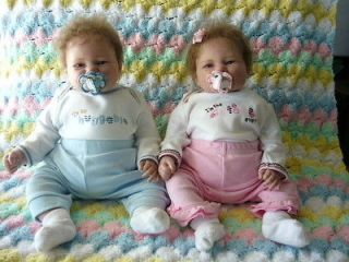 Reborn Baby Dolls Twins Boy and Girl 2009 Absolutely Adorable