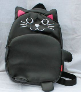 New ARRIVAL TODDLER BABY GIRLS OUTING SMALL BACKPACK ~Black Kitty/cat
