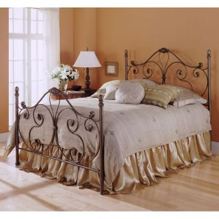 Queen Size Aynsley Metal Bed Frame with Cast iron Accented Headboard