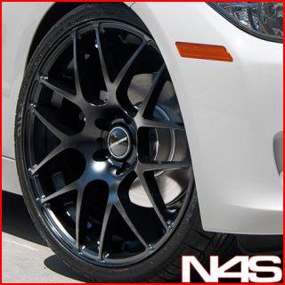19 BMW E39 M5 AVANT GARDE M310 CONCAVE BLACK STAGGERED WHEELS RIMS
