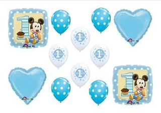 Baby Mickey Mouse 1st Birthday Party Balloons Bouquet